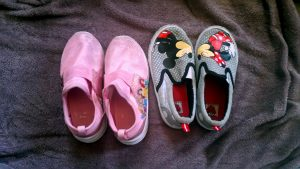 2 Pair of Girls Slip-On Shoes For Donation