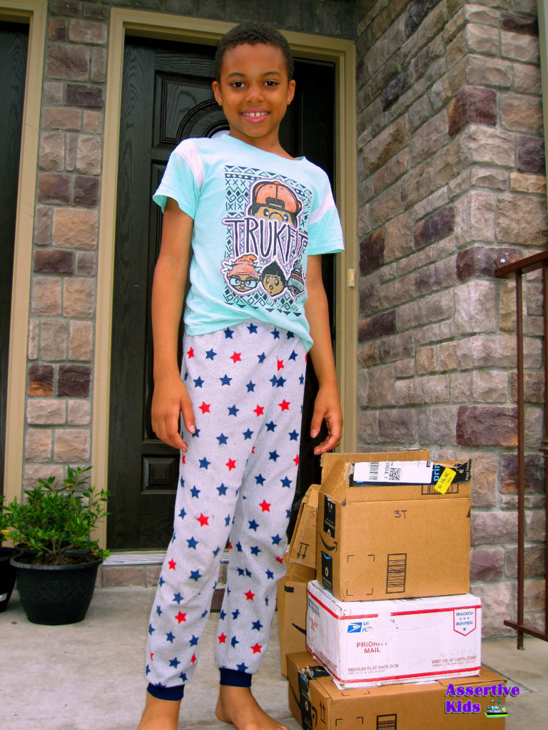 Child Receiving Clothing In Arlington